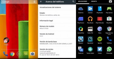 Moto G Forte con Android 5.0.2 Lollipop.