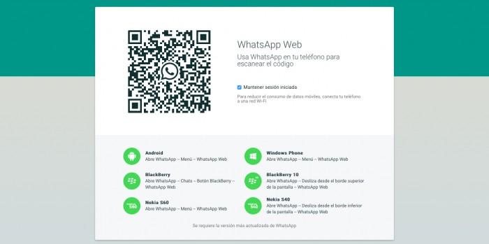 WhatsApp Web Safari
