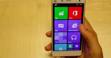 Xiaomi Mi4 windows phone 10