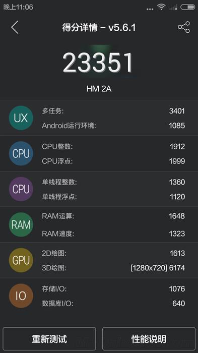 Prueba benchmark del Xiaomi Redmi 2A