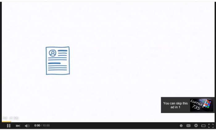 Ejemplo de anuncio en YouTube