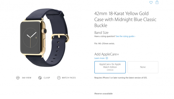apple watch edition with apple care+