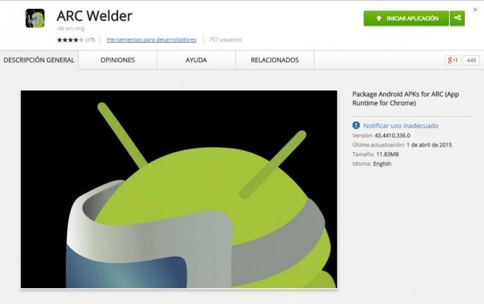 Con ARC Welder las aplicaciones de Android están más cerca de tu escritorio