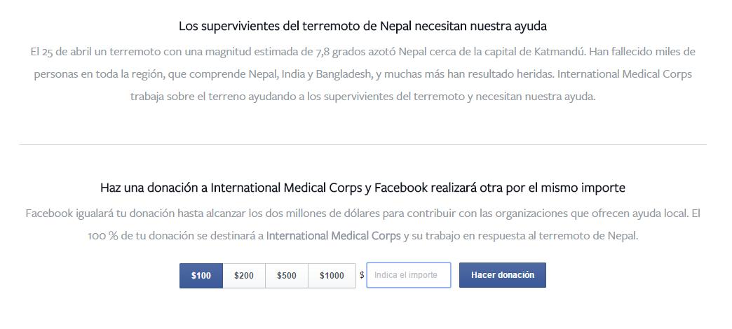 donacion-facebook-nepal