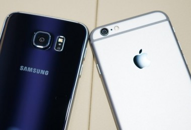 galaxy s6 vs iphone 6 back