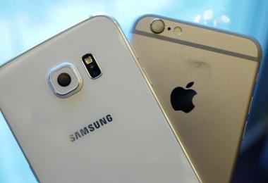 galaxy s6 y iphone 6s