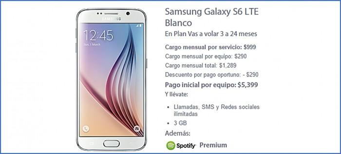 Galaxy S6 en el plan Vas a Volar 3 de Movistar a 24 meses