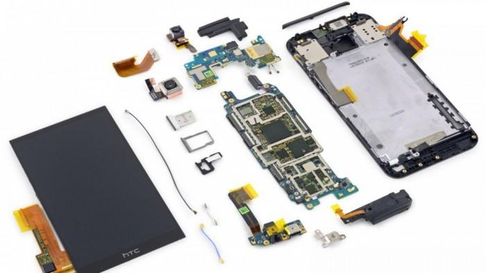 Componentes internos del HTC One M9