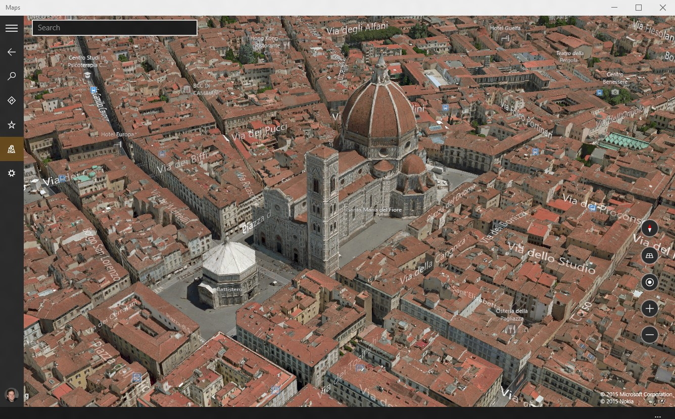 mapa Florencia-3D-Map-windows10
