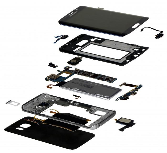 Componentes del Samsung® Galaxy S6 edge