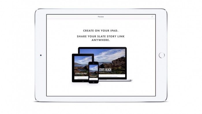Adobe Slate para iPad