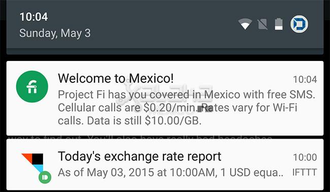 De esta manera se confirma la cobertura de Project Fi en México