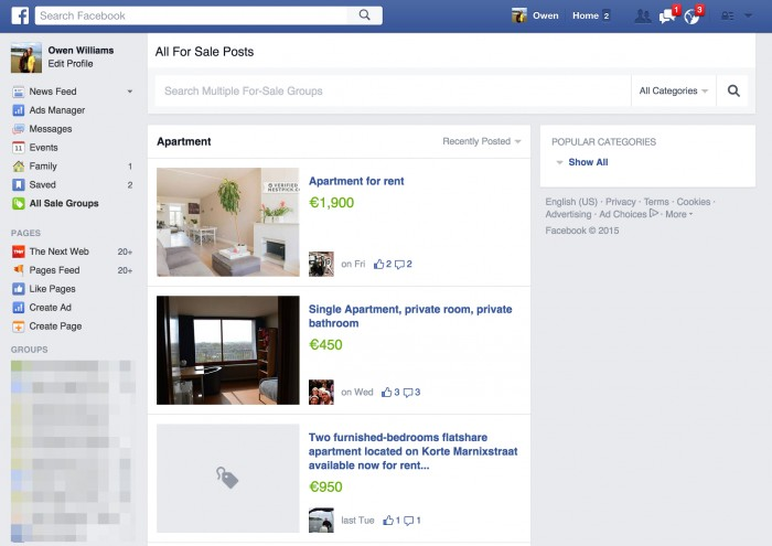 facebook venta