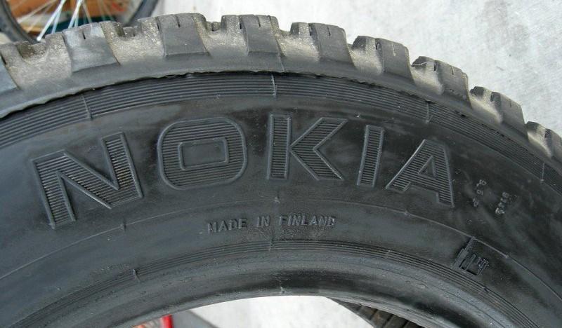 Llantas con la marca Nokia