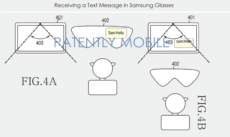 patente gafas samsung