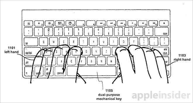 patente teclado apple