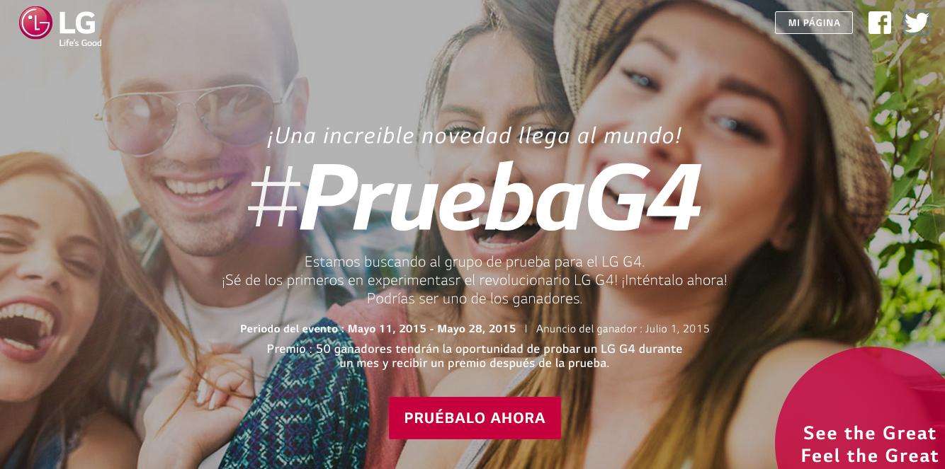 LG lanza su aplicación de prueba del G4 en México