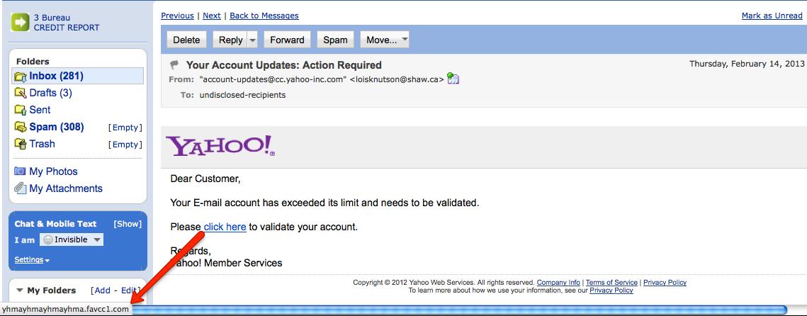 yahoo-correo phishing