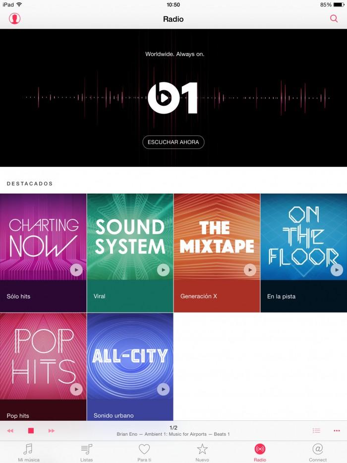 Apple music beats1 inicio