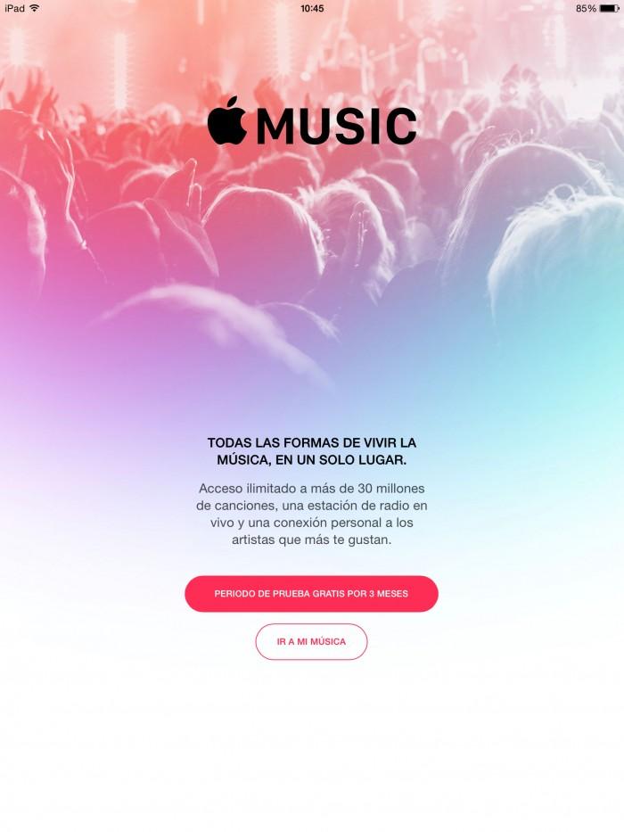 Apple music prueba