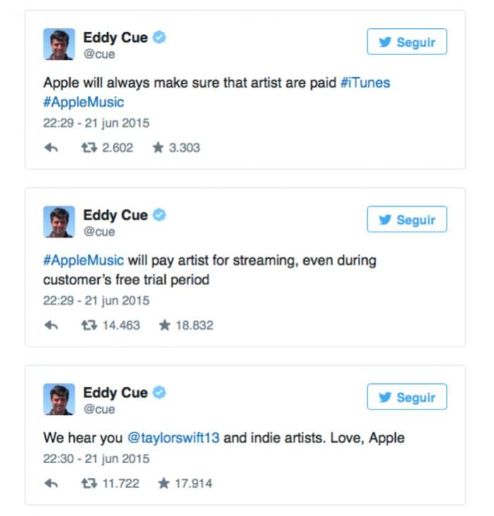 Eddy Cue Taylor Swift Apple music