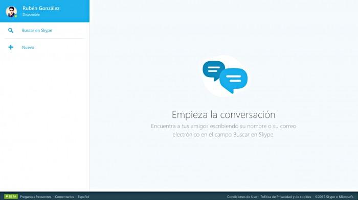 Skype para Web (Beta)