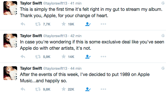 Taylor Swift en Apple Music