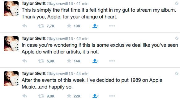 Taylor Swift en Apple Music