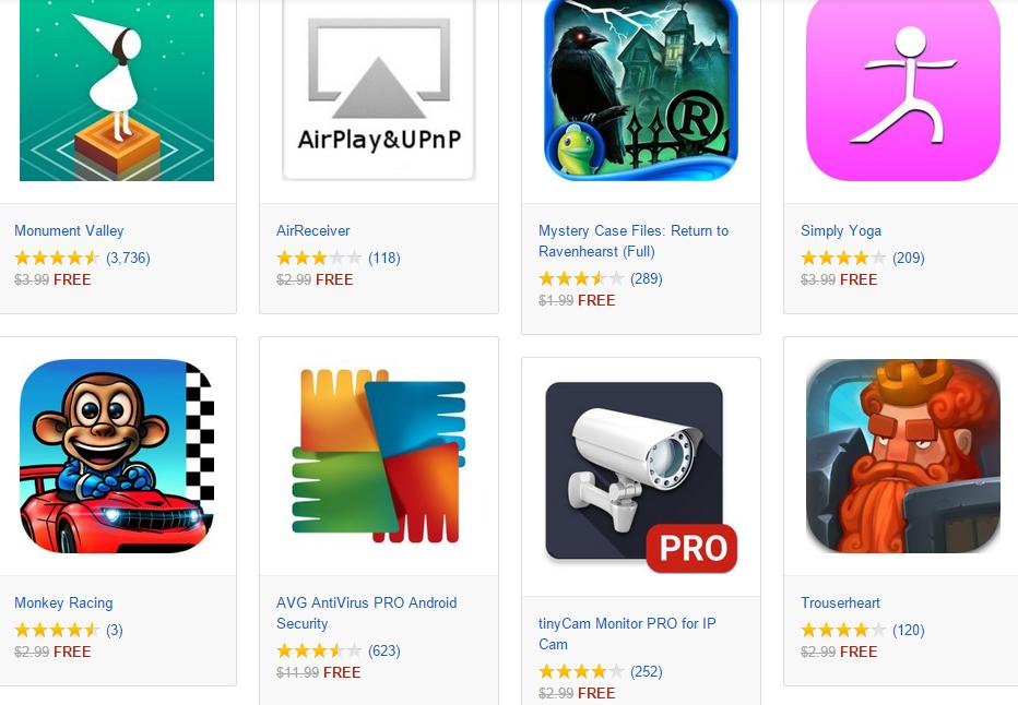 Algunas de las Aplicaciones que Amazon regala