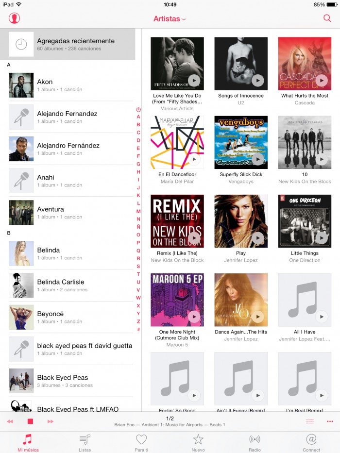 apple music mi  música