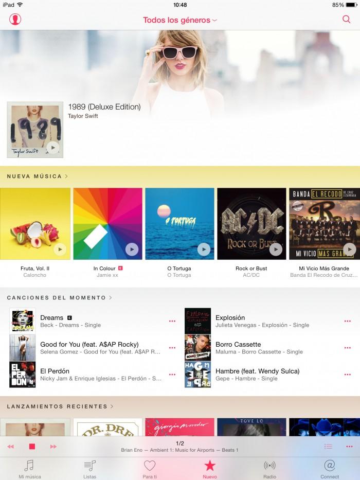 apple music nuevo