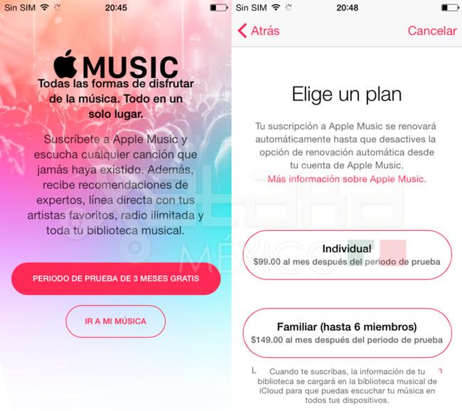 apple music precio mexico