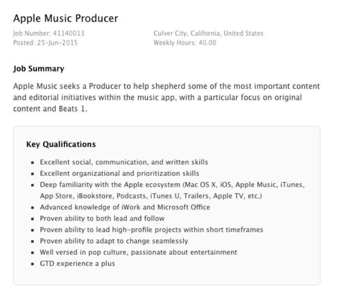 apple music producer