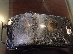 iphone explotado