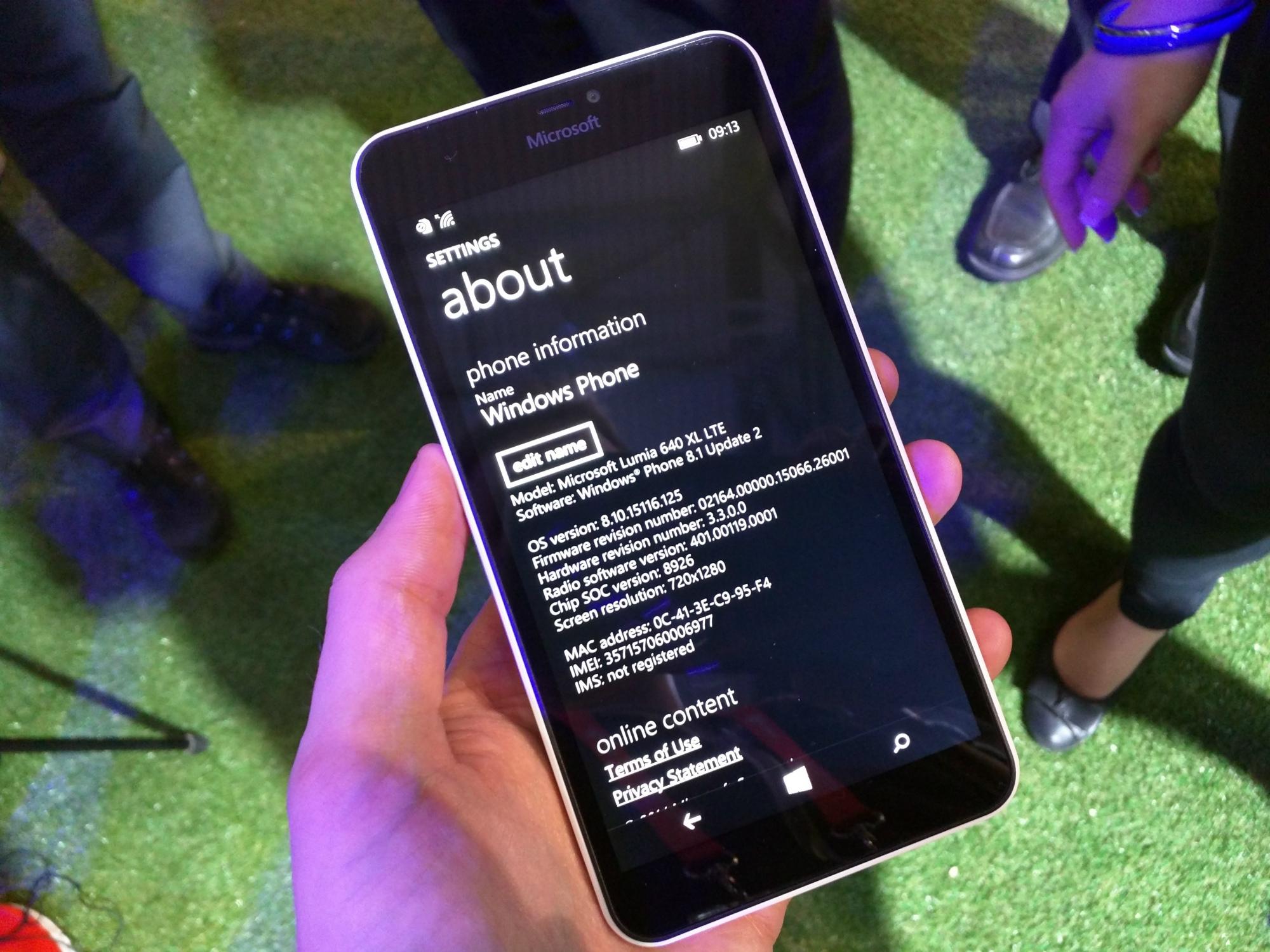 Windows Phone 8.1 Update 2 con Lumia™ Denim adjunta el Lumia™ 640 XL