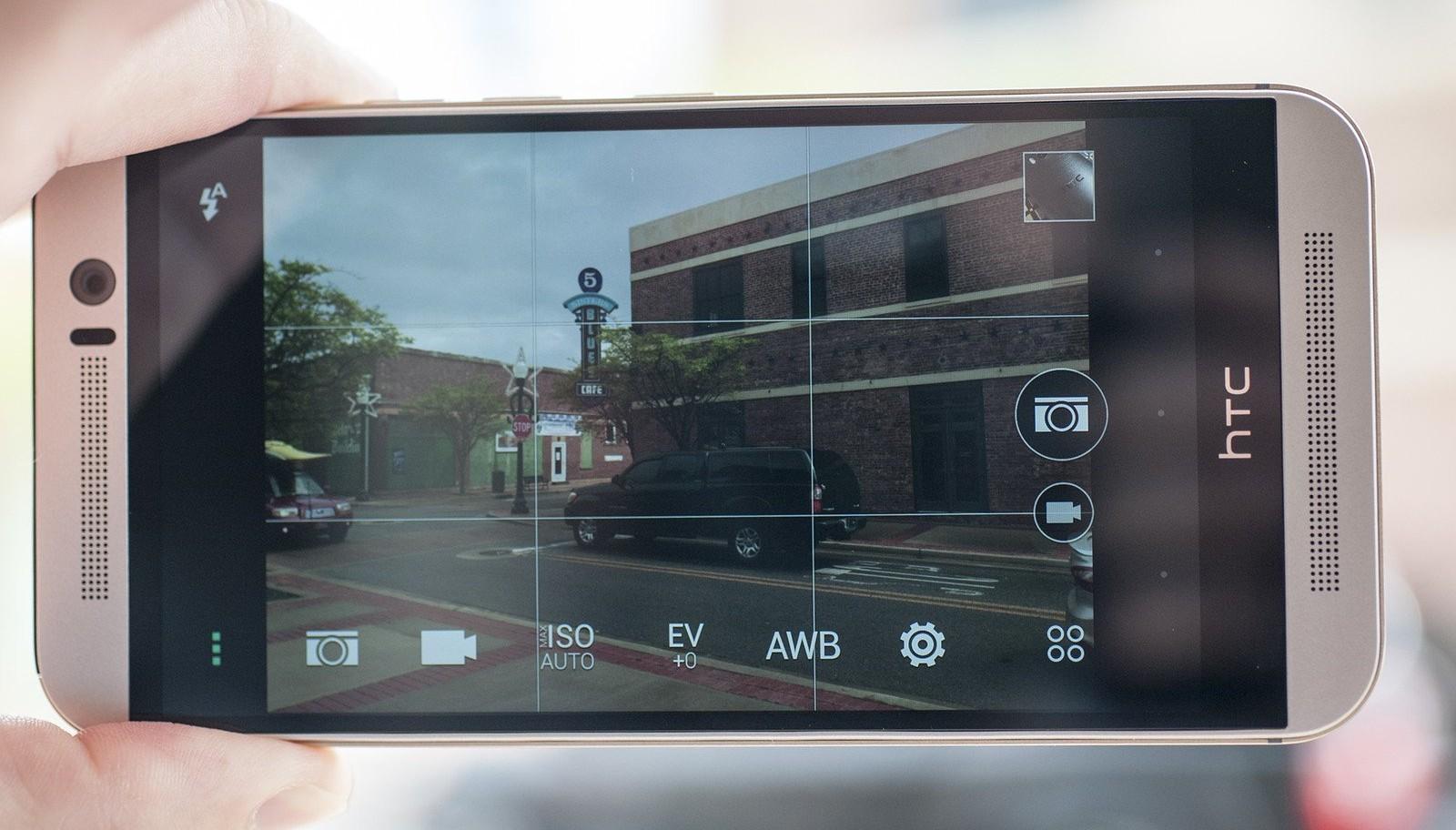 Interfaz de la cámara del HTC One M9
