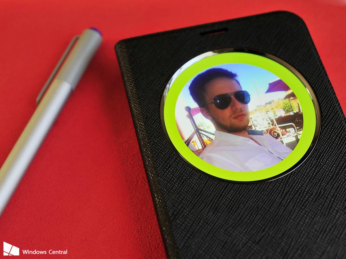 Ilustración de la funda y el pen que tendría el Lumia 950 XL