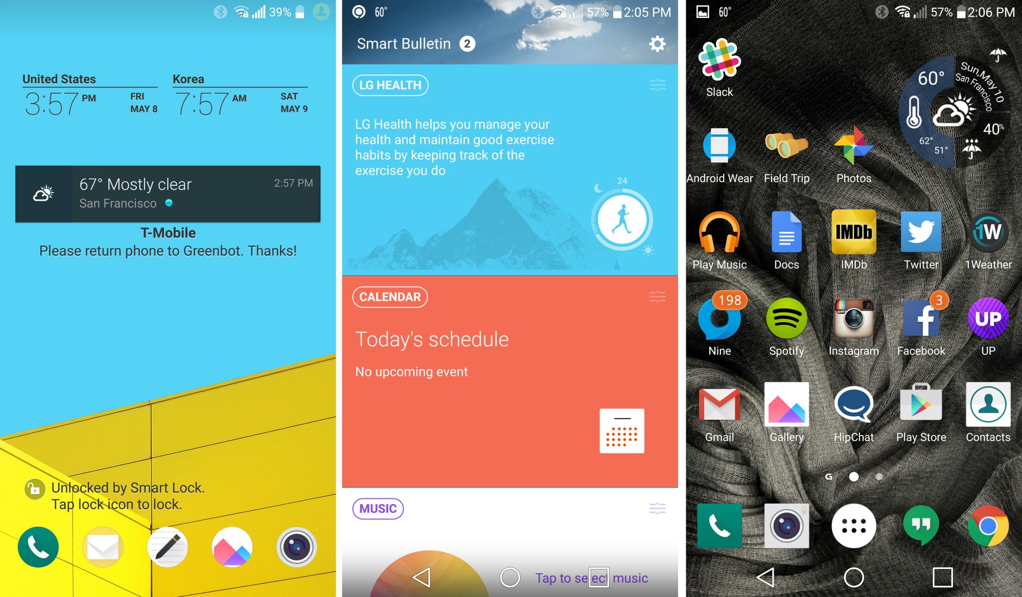 LG G4- Interfaz de Usuario