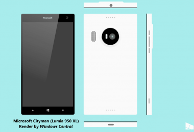 Microsoft Lumia 950 XL (Cityman) render