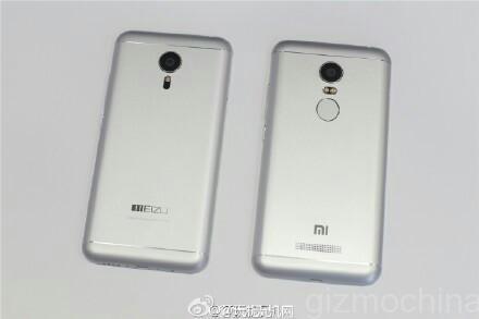 Filtración comparando el Xiaomi redmi Note 2 frente al Meizu MX5
