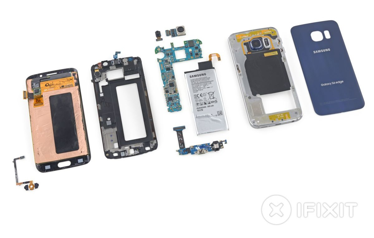 Samsung Galaxy S6 Edge-hardware interior