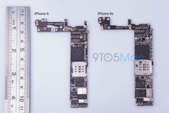 Placa madre del prototipo de iPhone 6s