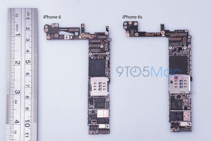 Placa madre del prototipo de iPhone 6s