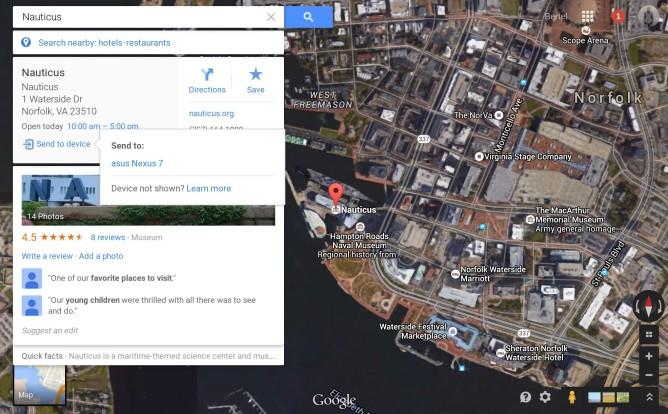 mapa google a dispositivo