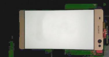 Supuesto panel frontal del Sony Lavender