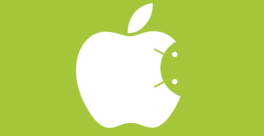 Apple y Android