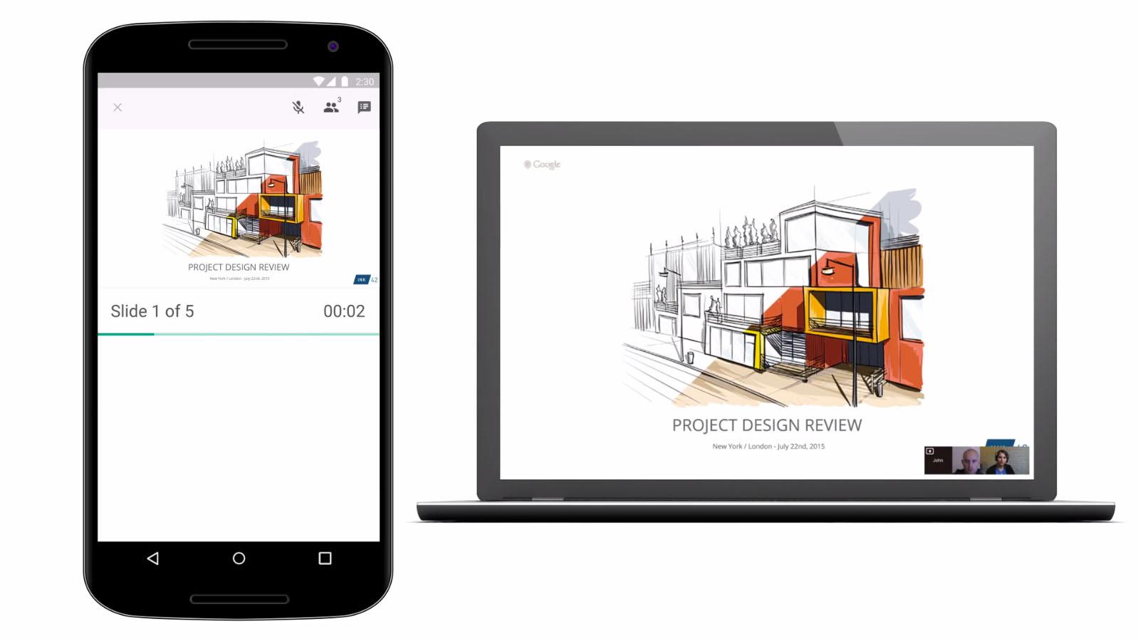 Google Slides comparte archivos en Hangouts
