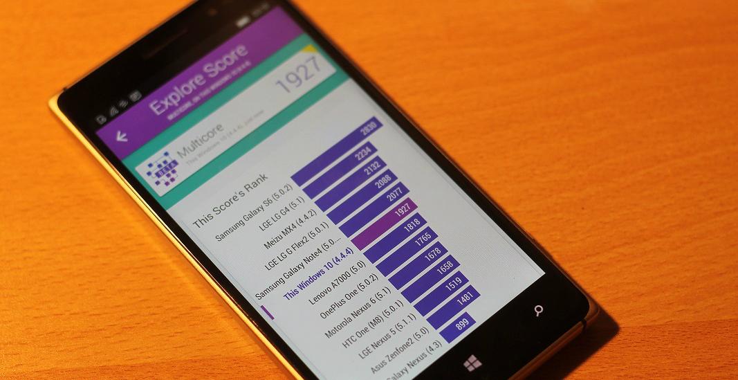 Lumia 830 Benchmarks de Android
