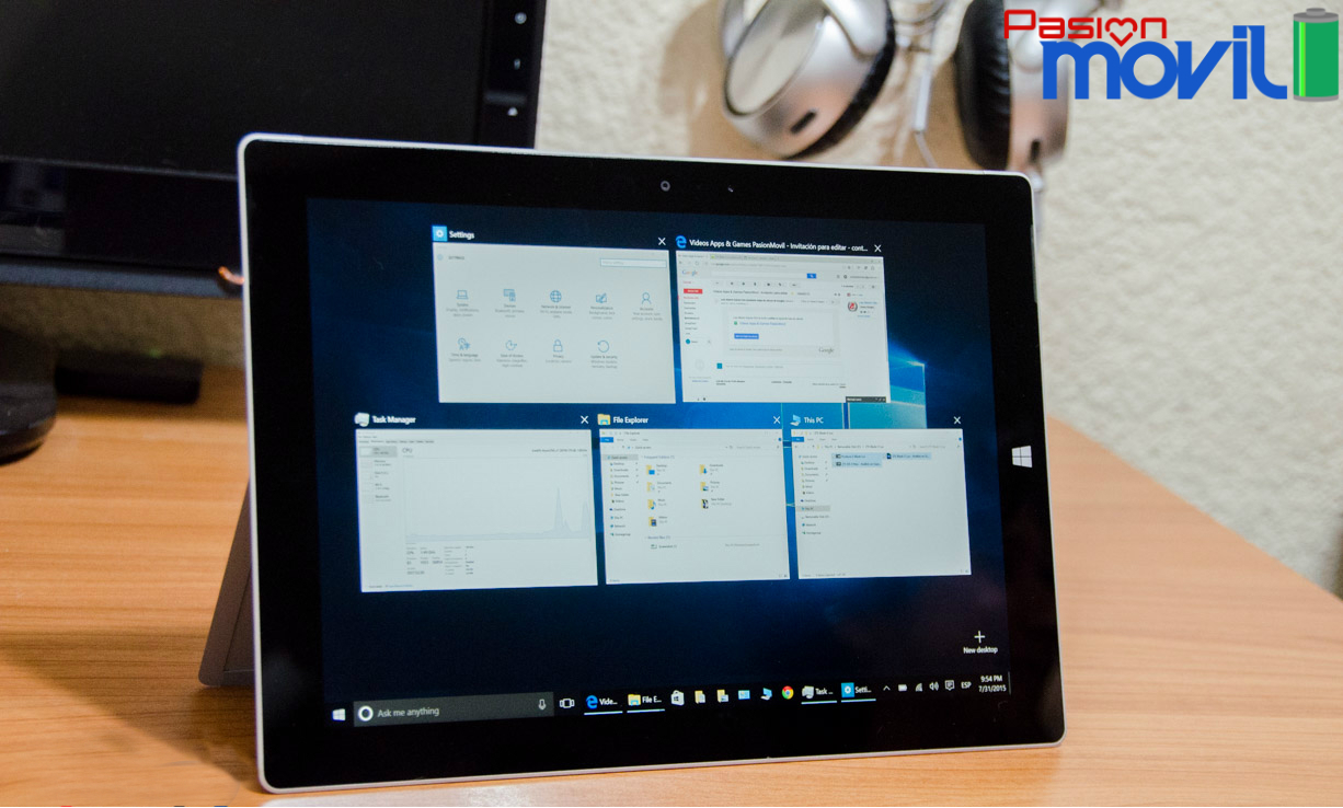 Multitarea en Windows 10