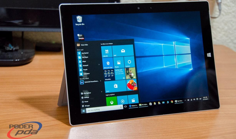 Microsoft Surface 3 con Windows 10-Analisis